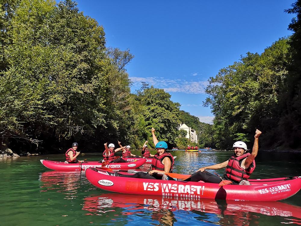 balade canoe rafting lestelle lourdes