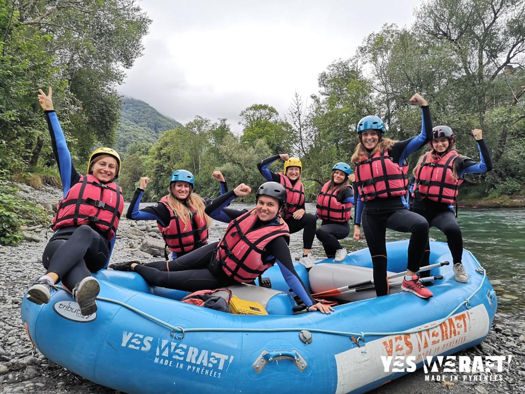 Rafting EVJF Pyrénées enterrement de vie de jeune fille