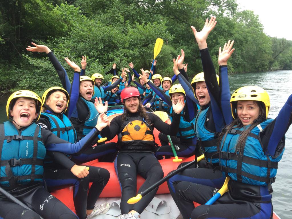 Rafting Pyrénées jeunes