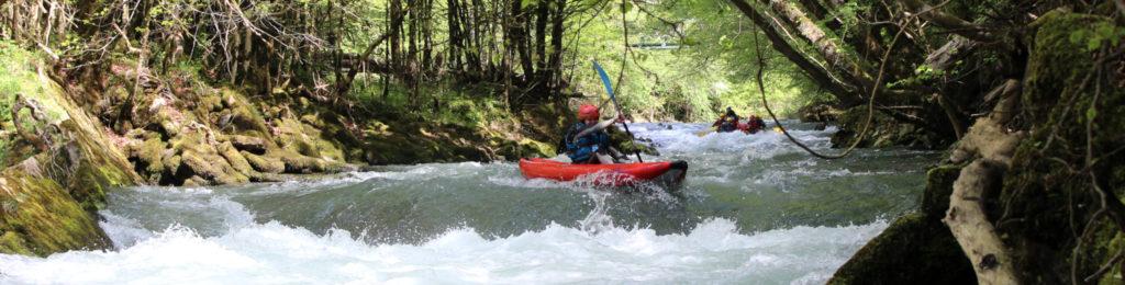 Kayak rafting Pyrénées Pau