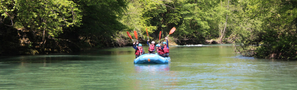 Rafting nature Pyrénées