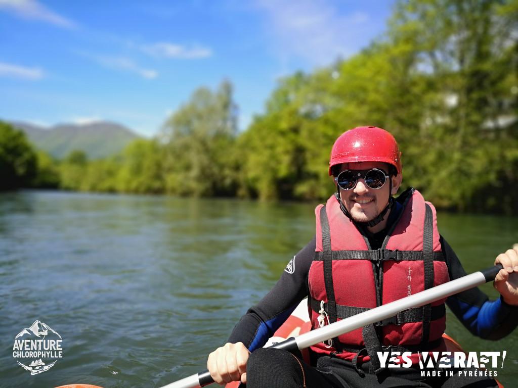 Kayak rafting sur le gave de Pau