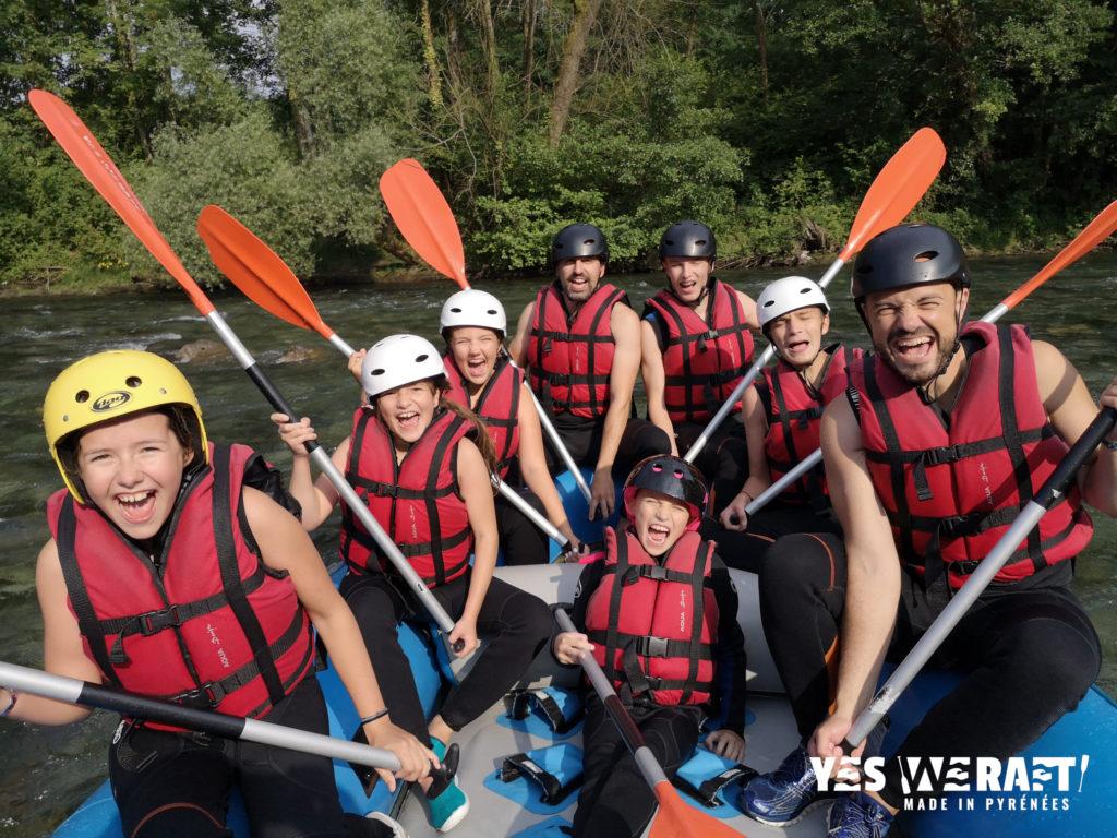 rafting famille Fun Pau